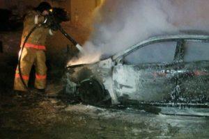 Поругавшись с отчимом, курянин сжег его автомобиль