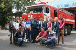 Курские студенты посетили пожарную часть №1