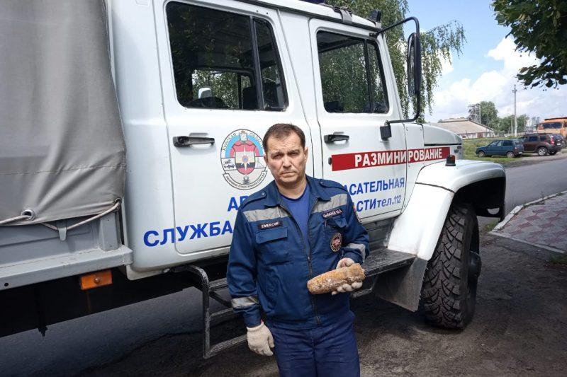В Курской области нашли артснаряд времен войны