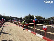 В Курске открыли низководный мост, построенный военными инженерами