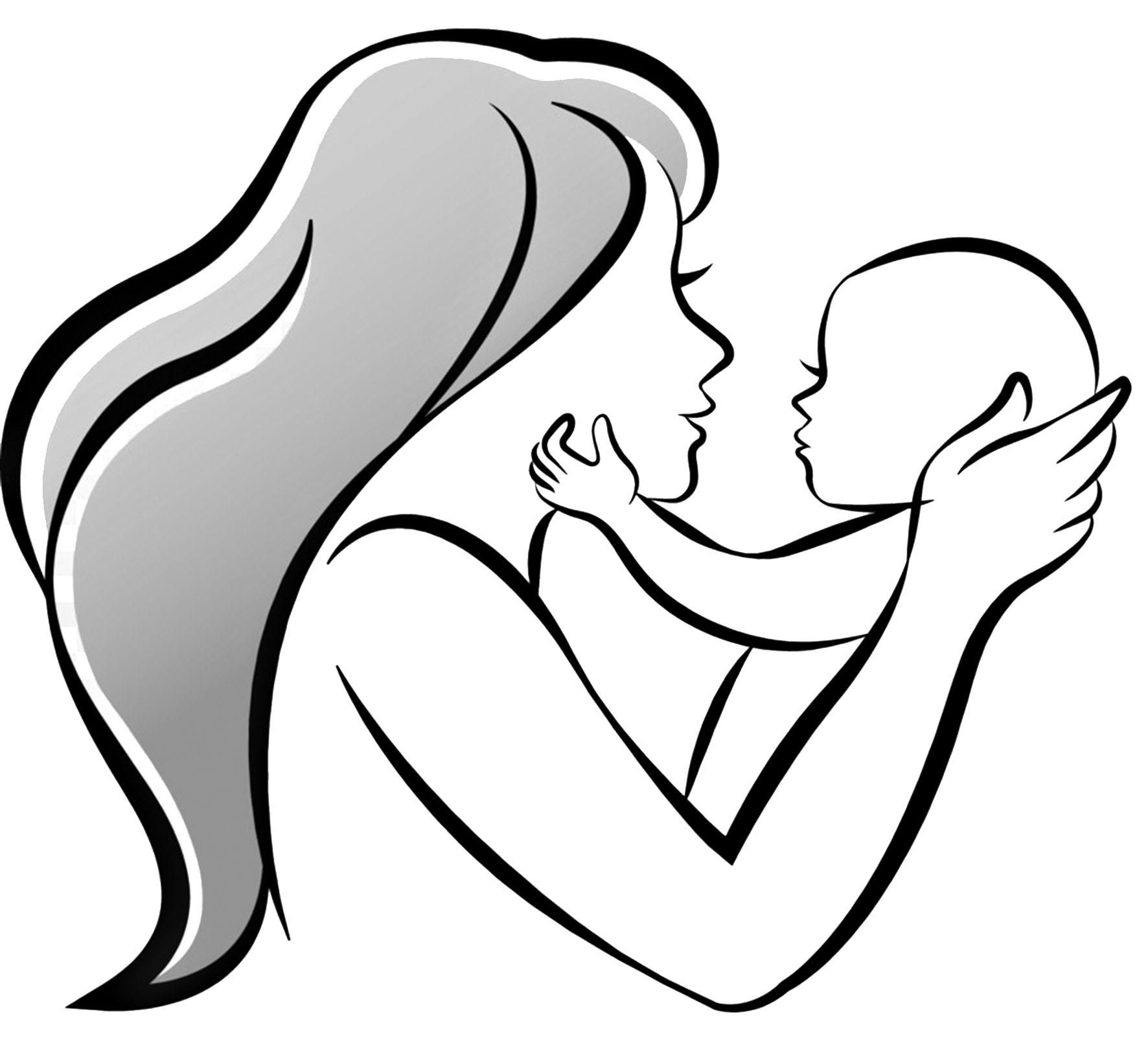 сейчас рисунки мать и дитя на руках кусок тонкой кожи