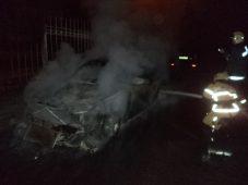Ночью в Курске горела дорогая иномарка