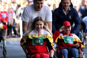 В Курске в «Классном забеге» приняли участие паралимпийцы
