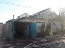 В Курской области сгорела половина дома