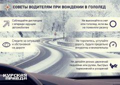 Водителей Курской области предупредили об ухудшении погодных условий
