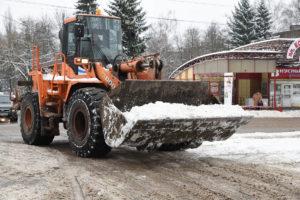 В Курске определили площадки для складирования снега