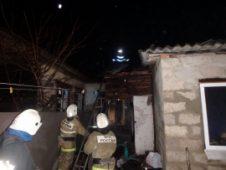 В Курском районе горел многоквартирный дом