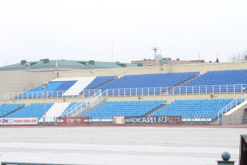 На курском стадионе «Трудовые резервы» отремонтировали Южную трибуну