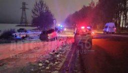 В аварии под Курском пострадал ребенок