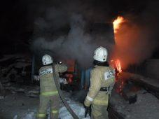 В Курской области сгорел сарай