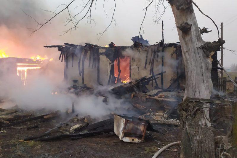 В Курской области при пожаре погибла женщина
