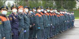 Курские спасатели продолжают подготовку к параду Победы