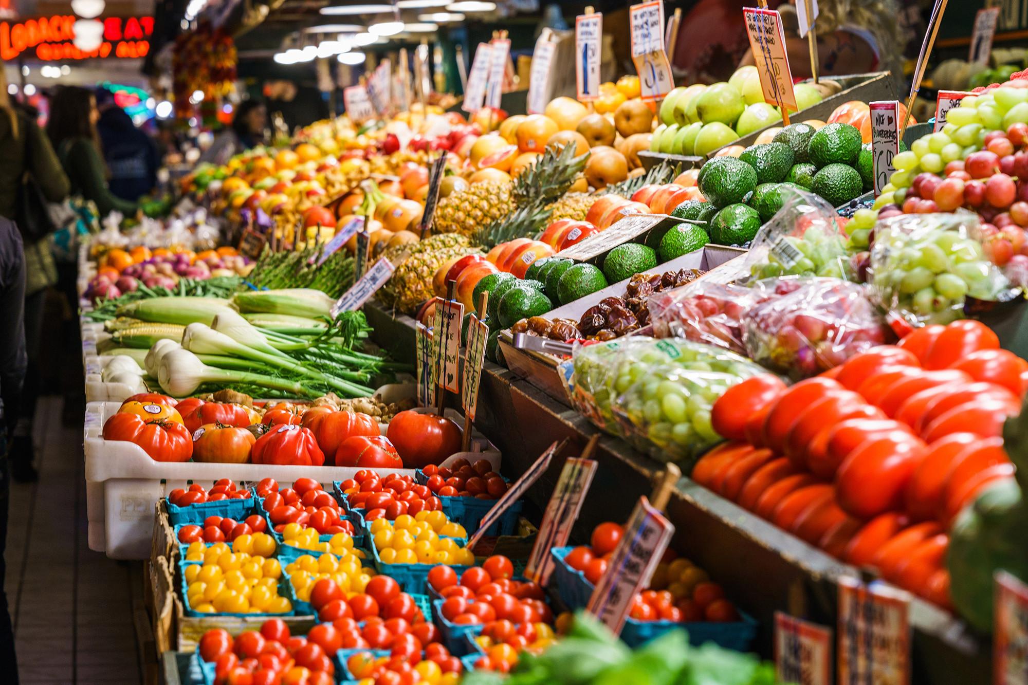 Картинка продуктовый рынок