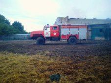 В Курской области сгорело 1000 квадратных метров соломы