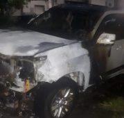 """В Курске полиция нашла подозреваемого в поджоге """"Тойоты"""""""