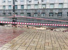 В Курске из-за ливней ночью перестали работать светофоры
