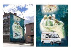 В центре Курске появится граффити в благодарность врачам