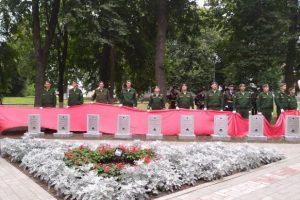 В Понырях открыли 28 стел памяти неизвестных солдат Курской битвы