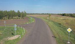 В деревне под Курском завершают строительство дороги