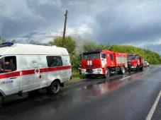 В Курской области огонь повредил частный дом