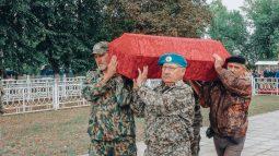 В Курской области захоронили останки советских солдат