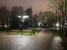 Светильники в парке Дзержинского