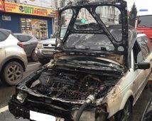 В Курске на улице Ленина сгорел автомобиль