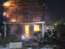 В Курской области сгорела двухэтажная баня