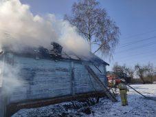 В Курской области сгорел деревянный жилой дом