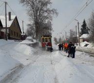 В Курске расчистили 20 км трамвайных путей