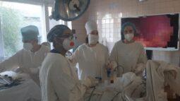 Курские хирурги впервые провели лапароскопию