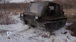 Военный пенсионер из курского села собрал танк-вездеход