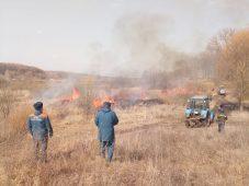 Курские спасатели провели контролируемый пал сухостоя