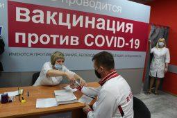 За 5 дней в торговых центрах Курска привились уже 442 человека