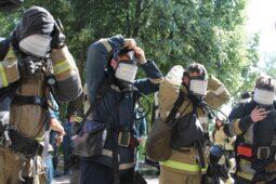 В Курской СХА спасатели провели пожарно-тактические учения