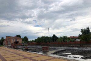 В Глушково Курской области продолжают реконструкцию главной площади