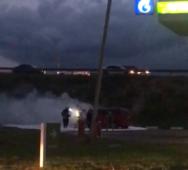 На курской заправке загорелся автомобиль