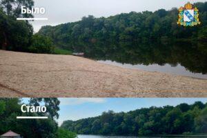 В Курской области преобразили льговский пляж