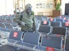 В Курске вновь дезинфицировали железнодорожный вокзал