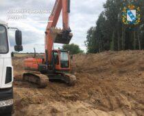 В Курской области пресекли незаконную добычу песка
