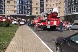 14 человек спасли из пожара
