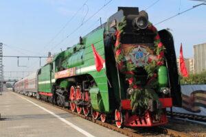 «Поезд Победы» прошёл маршрутами боевой славы