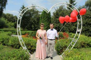 Свадьба под аркой любви