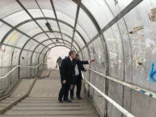 В Курске готовят проект капремонта надземного перехода на улице Дзержинского