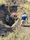 В Курской области поисковики подняли останки летчика и самолёта