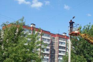 В Курске на десятке улиц восстановили освещение
