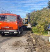 В Курске начали ремонт дороги ни улице Чумаковской
